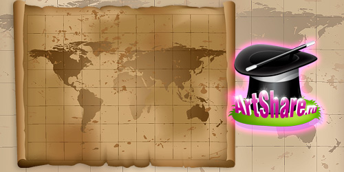 Древняя карта мира в векторе (eps)