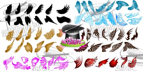 Скачать векторные крылья монстров