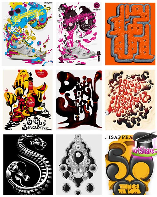 colorful art posters