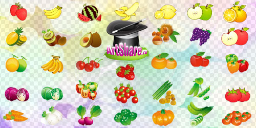 Vector fruits & vegetables