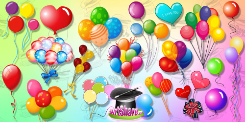 Векторные воздушные шарики